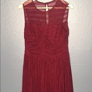 London Times NWOT maroon gold thred Sz 8 lined